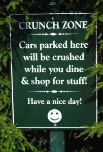 crunch-zone-sign