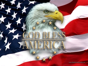 god bless america eagle flag