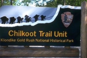 Chilkoot Trail Gold Rush Sign