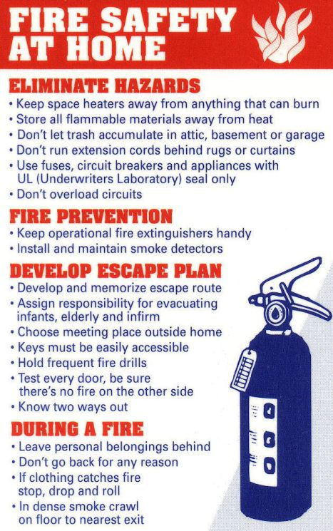 Home fire prevention safety tips reflections of pop for Fire safety house