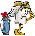 Clip Art Graphic of a White Chefs Hat Cartoon Character