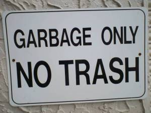 garbage-only-sign