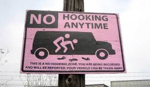 no-hooking-sign