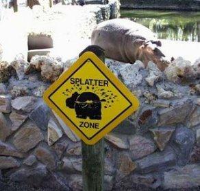 splatter-zone-sign