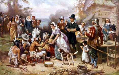 first-thanksgiving-pilgrims-indians