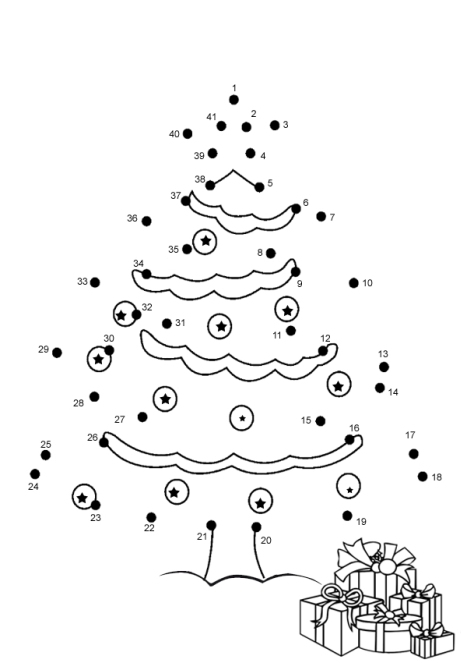 Christmas Dot-To-Dot Tree
