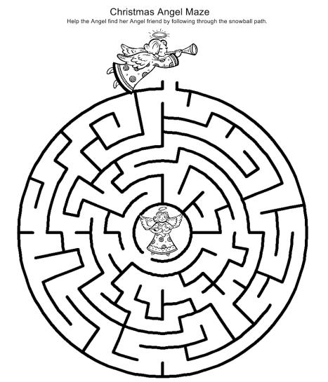 Christmas Maze - Christmas Angel Maze