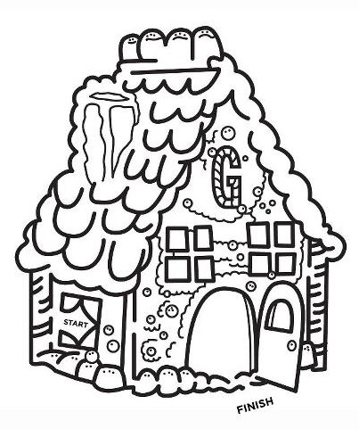Christmas Maze - Gingerbread House