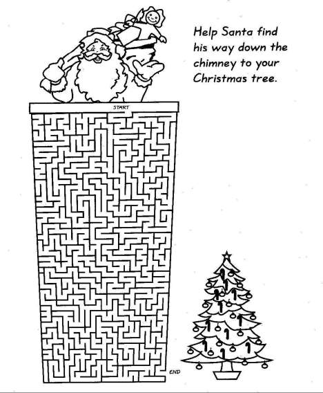 Christmas Maze - Santa Down Chimney to Tree