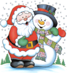 Christmas Santa & Frosty