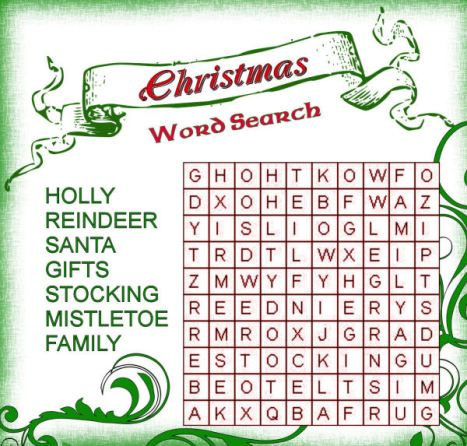 Christmas Word Search1