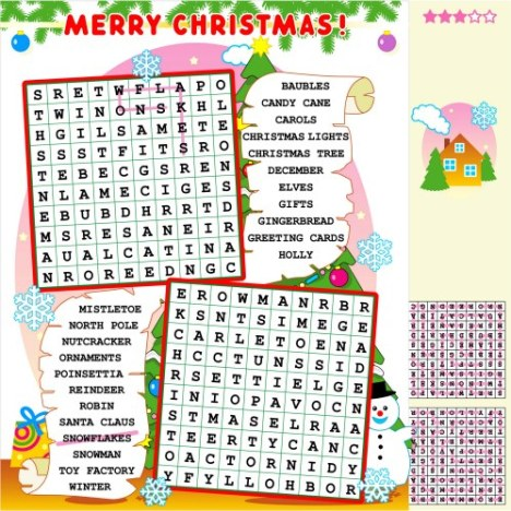 Christmas Word Search4