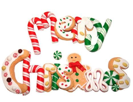 merry christmas cookies & candy