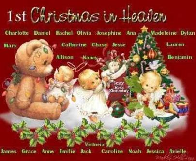 Sandy Hook - 1st Christmas in Heaven names