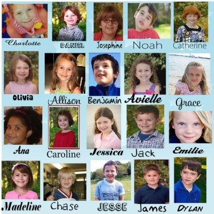 Sandy Hook child victim collage