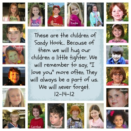 Sandy Hook Children Collage Never Forget