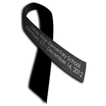 Sandy Hook School Black Ribbon