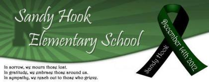 Sandy Hook School green ribbon banner